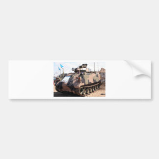 Tank: armored military vehicle bumper sticker