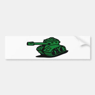 tank army car bumper sticker