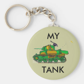TANK, BASIC ROUND BUTTON KEY RING