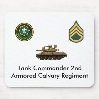 Tank Commander 2nd Armored Calvary Regement Mouse Mat