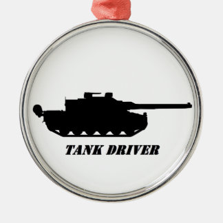 . tank driver Silver-Colored round decoration