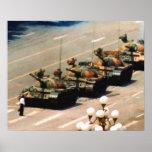 Tank Man Painting Poster