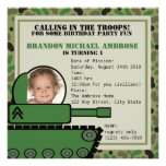 Tank Party Birthday/ Photo Personalised Invite