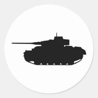 Tank Classic Round Sticker