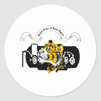 Tank Tiger Round Sticker