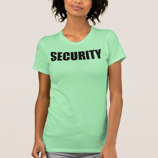 Tank Top (Fitted) SECURITY front and back