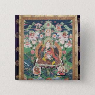 Tanka of Padmasambhava, c.749 AD 15 Cm Square Badge