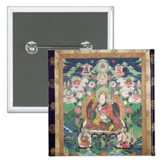 Tanka of Padmasambhava, c.749 AD 15 Cm Square Badge