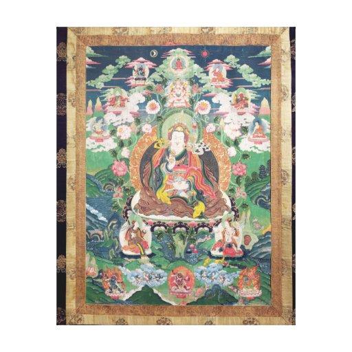 Tanka of Padmasambhava, c.749 AD Stretched Canvas Prints