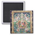 Tanka of Padmasambhava, c.749 AD Square Magnet