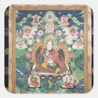 Tanka of Padmasambhava, c.749 AD Square Sticker