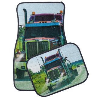 Tanker Truck, Cistern Lorry Trucker Art Floor Mat