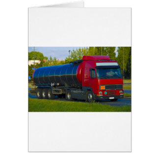 tanker truck greeting card