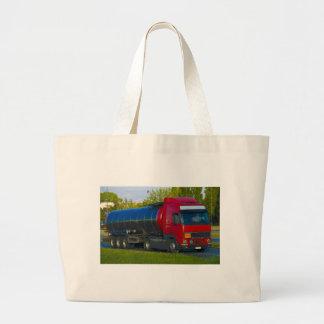 tanker truck large tote bag