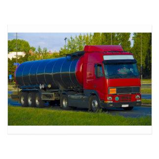 tanker truck postcard