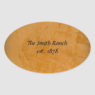 Tanned Leather Oval Sticker