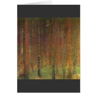 Tannenwald II by Gustav Klimt Card