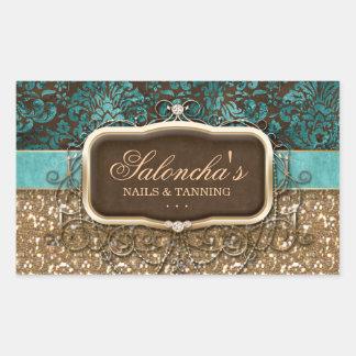 Tanning Fashion Real Estate Chandelier Glitter Rectangular Sticker