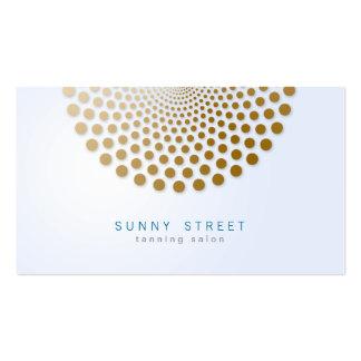 Tanning Salon Business Card Circle Dots Motif