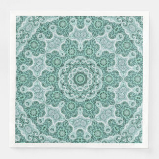 Tantalizing in teal paper serviettes