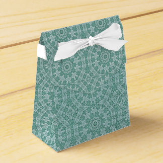 Tantalizing in teal party favour box
