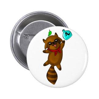 tanuki 6 cm round badge
