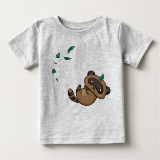 Tanuki and Leaves Baby T-Shirt