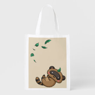 Tanuki and Leaves Reusable Grocery Bag