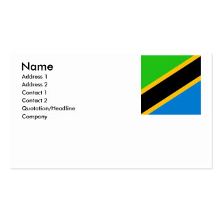 Tanzania Double-Sided Standard Business Cards (Pack Of 100)