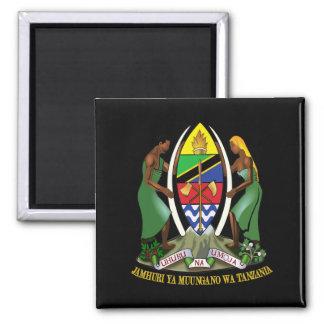Tanzania COA Square Magnet