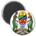 Tanzania coat of arms 6 cm round magnet