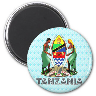 Tanzania Coat of Arms 6 Cm Round Magnet