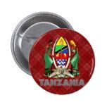 Tanzania Coat of Arms Button