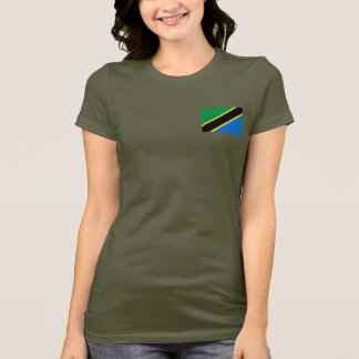 Tanzania Flag and Map dk T-Shirt