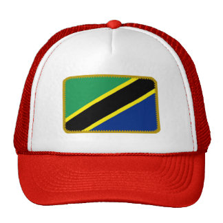 Tanzania flag embroidered effect hat