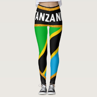 Tanzania Flag Leggings