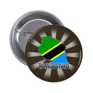 Tanzania Flag Map 2.0 Pin