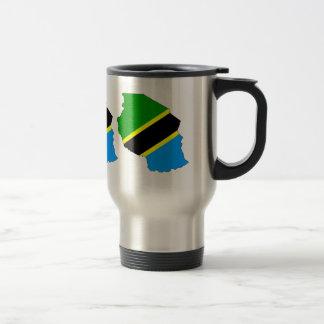 Tanzania Flag Map full size Coffee Mugs