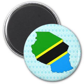 Tanzania Flag Map full size Fridge Magnets
