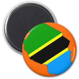 Tanzania flag map refrigerator magnets