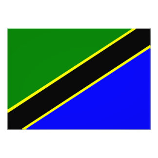 Tanzania Flag Photographic Print