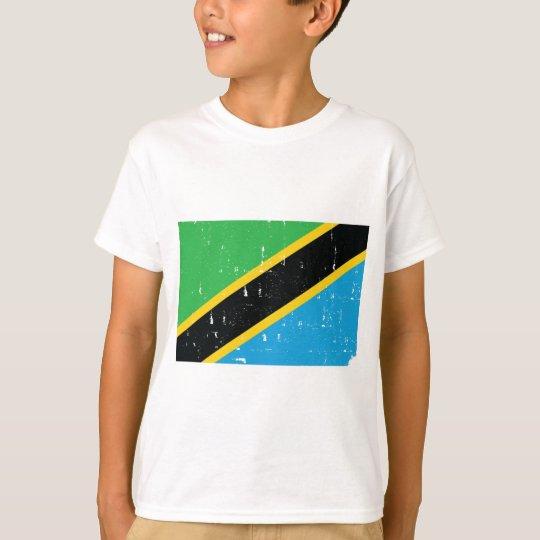Tanzania Flag T Shirt Worn look World