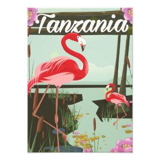 Tanzania - Lake Natron - Flamingo travel poster Art Photo