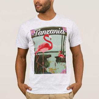 Tanzania - Lake Natron - Flamingo travel poster T-Shirt