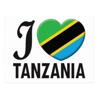 Tanzania Love Postcard