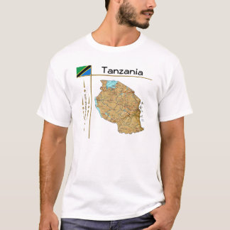 Tanzania Map + Flag + Title T-Shirt