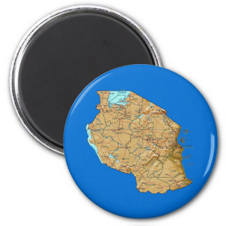 Tanzania Map Magnet