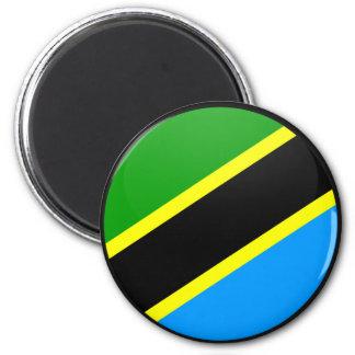 Tanzania quality Flag Circle Fridge Magnet