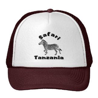 Tanzania Running Zebra  Safari Cap