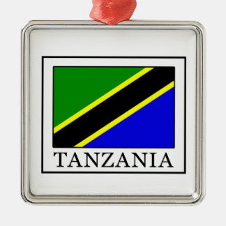 Tanzania Silver-Colored Square Decoration